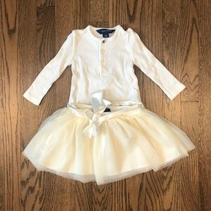 Ralph Lauren shirt and skirt set